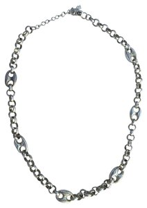 Etienne Aigner Silver Tone Chain Necklace
