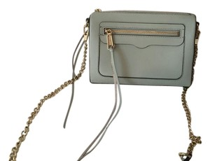 Rebecca Minkoff Saffiano Leather Gold Hardware Like New Cross Body Bag