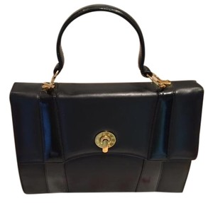 Paloma Picasso Tiffany Black Leather Tote in Black Gold