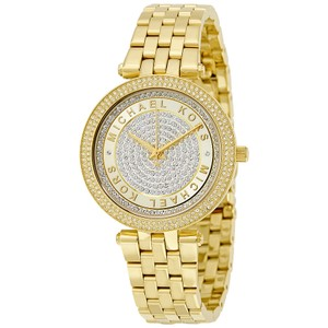 Michael Kors Michael Kors Mini Darci Gold Stainless Pave Crystal Watch MK3445