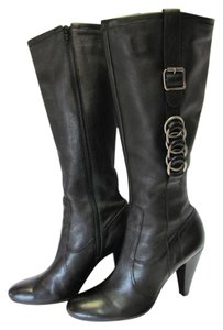 Antonio Melani Leather Size 8.50 M Black Boots