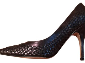 Delman Black and pewter metallic Pumps