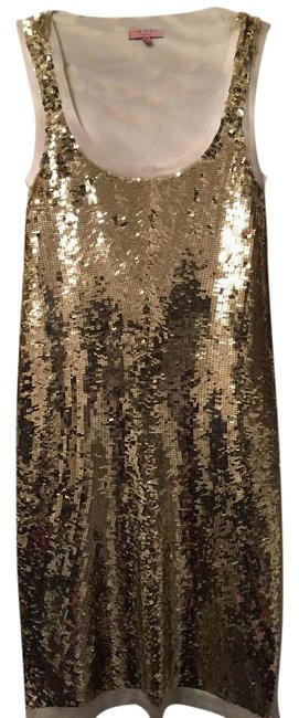 Preload https://img-static.tradesy.com/item/19844725/ted-baker-gold-and-cream-mid-length-cocktail-dress-size-0-xs-0-1-650-650.jpg