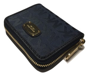 Michael Kors Signature Mk Navy Clutch
