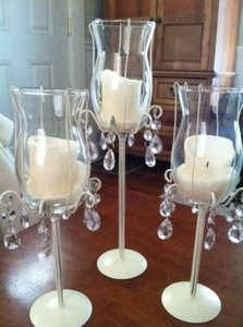 15- 3 Piece Tiered Candle Holder Centerpieces