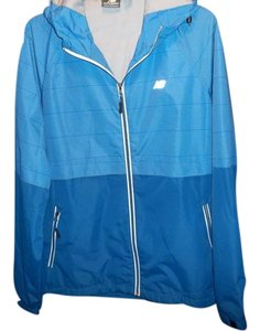 New Balance New Balance Blue Zip Front Hooded Running Track Jacket Ladies Size L