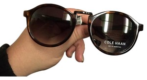 Cole Haan New Cole Haan Unisex Round Dark Tortoise Brown Sunglasses C6118 21