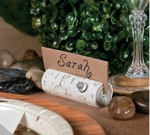 80 Faux Birch Branch Place Card Holders