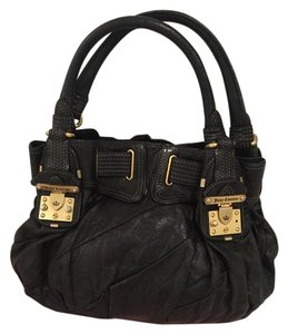 Juicy Couture Juicy Leather Tote in Black