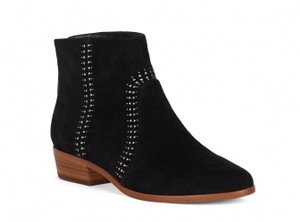 Joie Suede Studded Zipper Black Boots