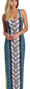 Blue, Yellow, Black & White Maxi Dress by Mara Hoffman