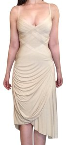 Herv Leger Champagne Bandage Formal Dress