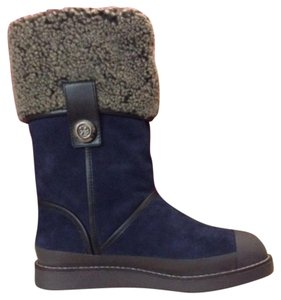 Tory Burch Snow Navy Boots