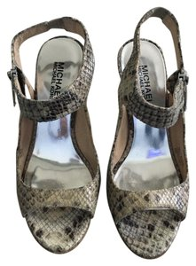 Michael Kors Sexy Zipper Snakeskin Sandals