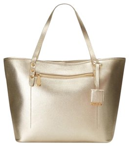 Kenneth Cole Metallic Tote in Gold