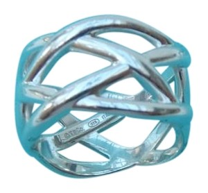 Tiffany & Co. Tiffany Sterling Silver web Ring size 6