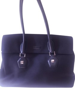 DKNY Designer Hand Leather Satchel in Black