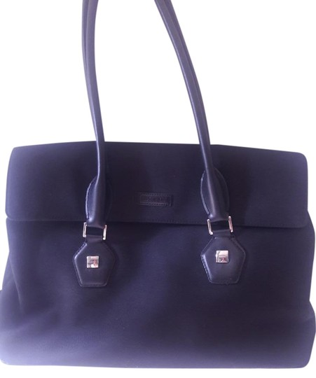 Preload https://img-static.tradesy.com/item/19845710/dkny-dark-with-logo-metal-logo-tags-black-pvc-coated-canvas-and-leather-satchel-0-1-540-540.jpg