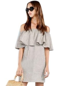 Reformation short dress Neutral Off The Shoulder Pockets on Tradesy