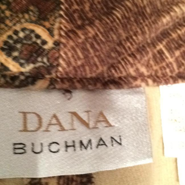 Dana Buchman Relaxed Pants MULTICOLOR VELVET with PRINT Image 3