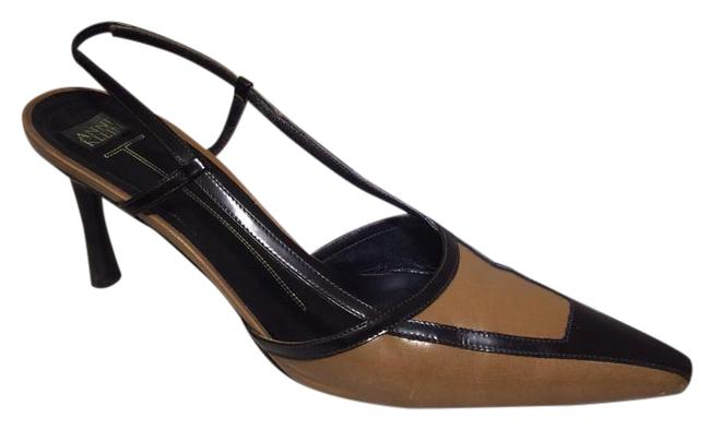 Item - Brown and Tan Two Tone Slingback Pumps Size US 9 Regular (M, B)