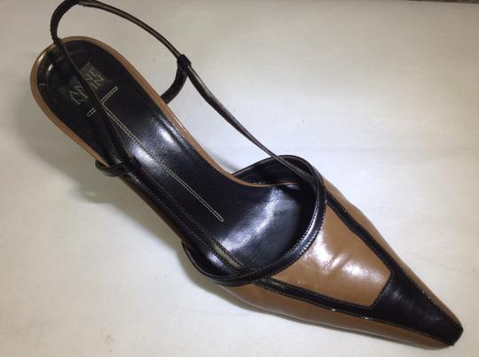 Anne Klein Slingback Two Tone Piping Autumn Spectator Brown and Tan Pumps Image 2