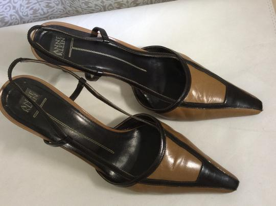 Anne Klein Slingback Two Tone Piping Autumn Spectator Brown and Tan Pumps Image 3
