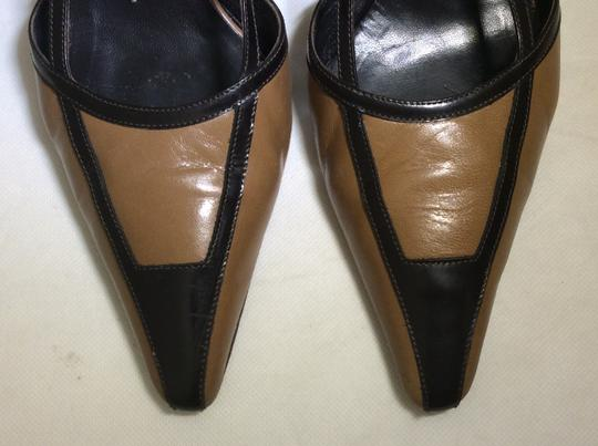 Anne Klein Slingback Two Tone Piping Autumn Spectator Brown and Tan Pumps Image 4