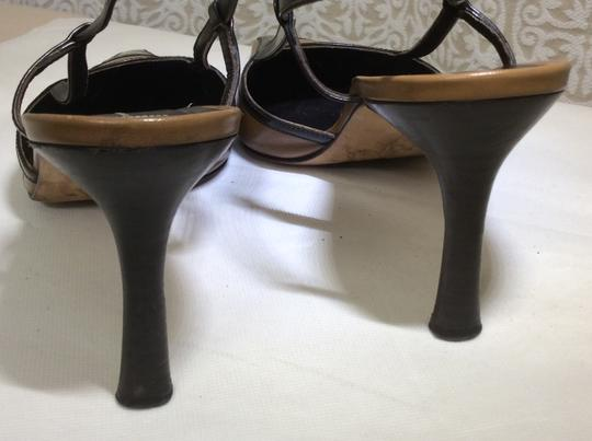 Anne Klein Slingback Two Tone Piping Autumn Spectator Brown and Tan Pumps Image 5