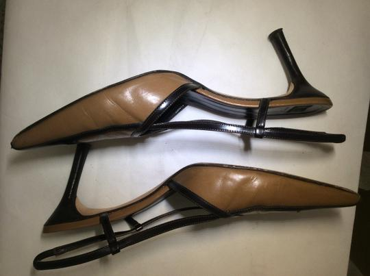 Anne Klein Slingback Two Tone Piping Autumn Spectator Brown and Tan Pumps Image 6