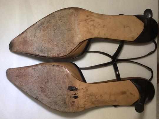 Anne Klein Slingback Two Tone Piping Autumn Spectator Brown and Tan Pumps Image 7
