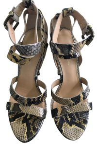 Via Spiga Stilettos Snakeskin Sandals