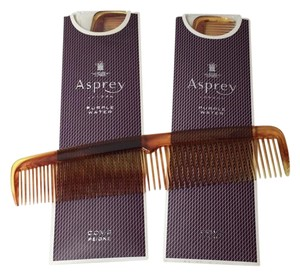 Asprey ASPREY LONDON Purple Water Tortoise Shell COMBS (Set of 2)