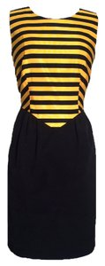 Moschino short dress Yellow & Black on Tradesy