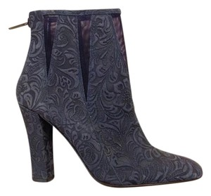 Diane von Furstenberg Dvf Leather Navy Boots