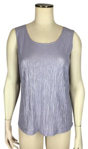 Chico's Lustrous Crinkle Top Purple