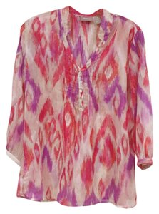 Chico's Top Pink, Purple, Gray, Orange, Red