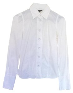 A|X Armani Exchange Button Down Button Down Shirt White