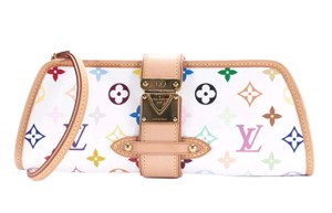 Louis Vuitton Shirley Murakami Multicolore white Clutch