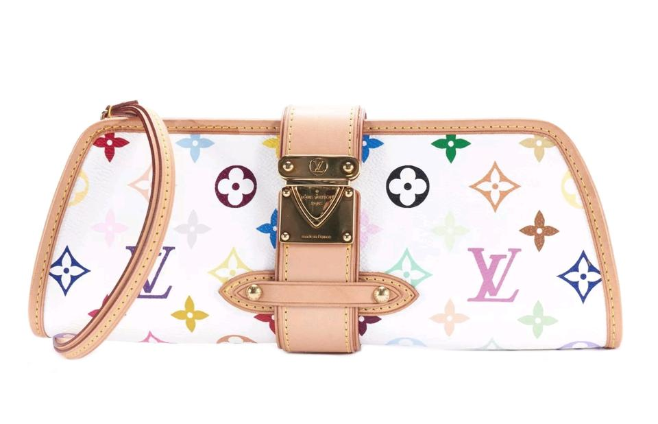 f21cdf6c3ba8 Louis Vuitton Shirley Multicolore White Murakami Canvas Clutch - Tradesy