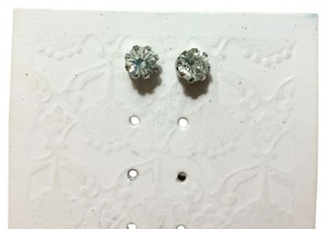 Nordstrom Stone Stud Earrings, Silver Metal, Clear Stone Nordstrom Earrings