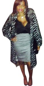 bebe Pencil Shimmer Skirt Gray