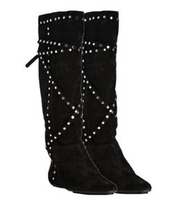 Jimmy Choo Brown Silver Tone black Boots