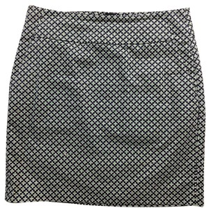 Ann Taylor Mini Skirt Navy/Green/White