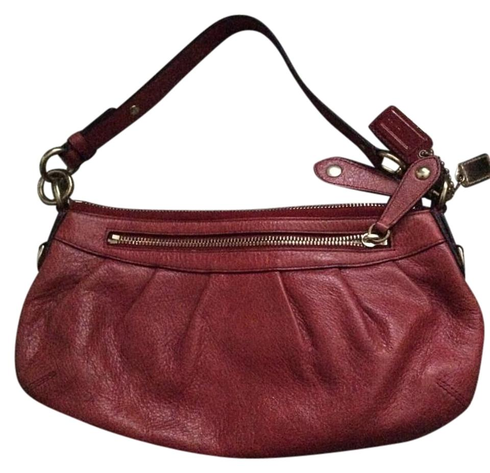 afbf6509a0 Coach 12944 - Madison Small Hobo Baguette Purse Red Leather Shoulder ...