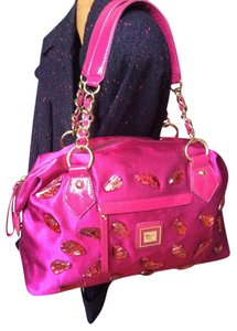Sharif By 1827 Pink Handbag Satchel in Magenta