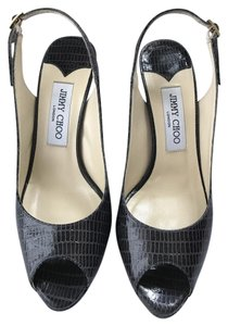 Jimmy Choo Nova Platform Grey Pumps