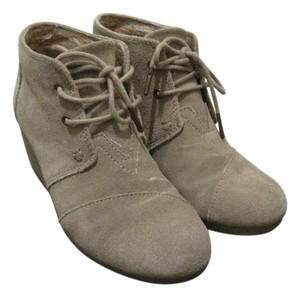 TOMS Suede Taupe Wedges