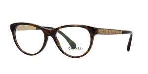Chanel NEW Chanel CH 3333 Brown Tweed Cat Eye Eyeglasses Frames