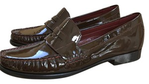 Cole Haan Patent Leather Penny Loafers Iconic Chestnut Patent Flats